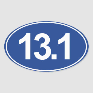 Demi de marathon 13,1 milles d'autocollant ovale sticker ovale
