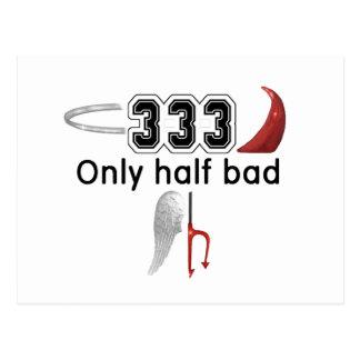 Demi de mauvais 333 carte postale