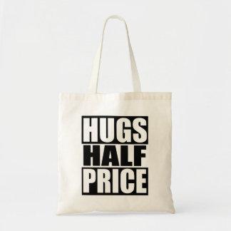 Demi de prix d'étreintes sacs en toile