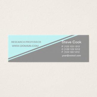 Demi de rayure audacieuse de concept minimal de mini carte de visite
