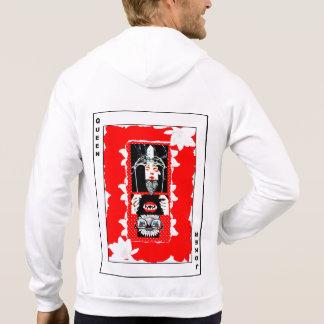 Demi de reine, demi de joker (rouge) veste à capuche