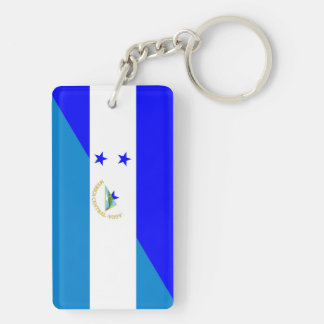 demi de symbole de pays de drapeau du Honduras Porte-clés