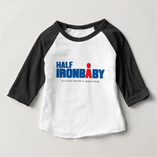Demi de T-shirt de douille du bébé 3/4 de fer
