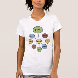 demi de T-shirt Julie de marathon
