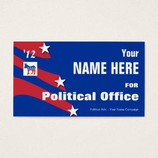 Démocrate - campagne électorale politique cartes de visite