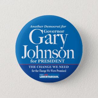 Démocrate pour le bouton de Gary Johnson Badges