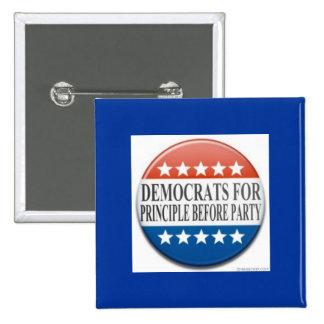 Démocrate pour le principe devant partie badges