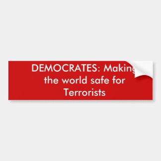 DEMOCRATES : Fabrication du coffre-fort du monde p Autocollant Pour Voiture