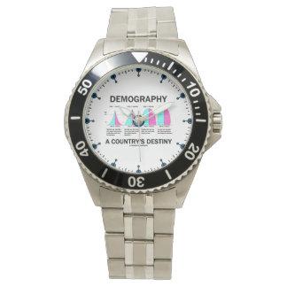 Démographie étapes du destin quatre d'un pays montres bracelet