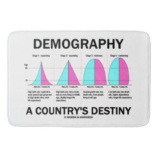 Démographie étapes du destin quatre d'un pays tapis de bain