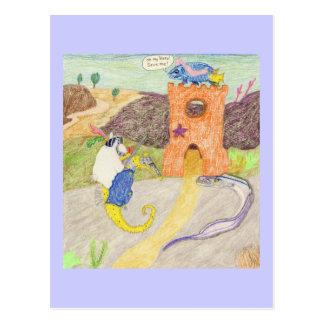 Demoiselle dans la détresse carte postale