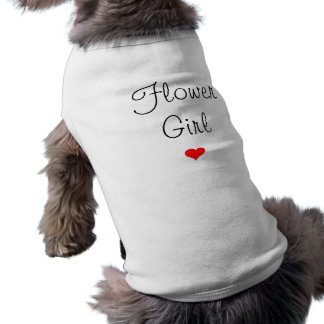 Demoiselle de honneur avec le coeur t-shirt pour chien