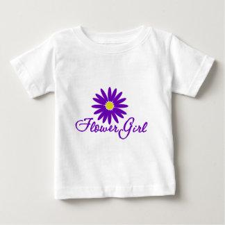 Demoiselle de honneur pourpre de marguerite t-shirt pour bébé