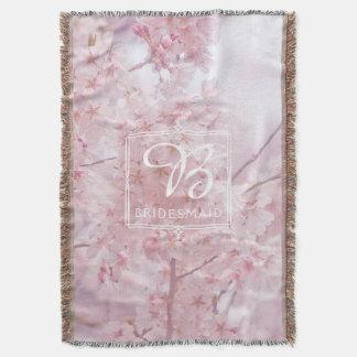 Demoiselle d'honneur de monogramme pâle - fleurs couverture