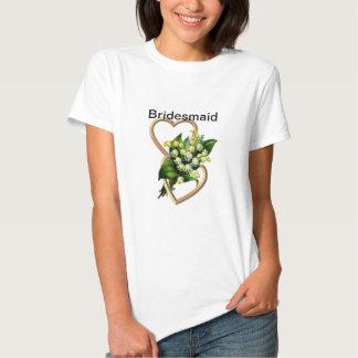 Demoiselle d'honneur du muguet t-shirts