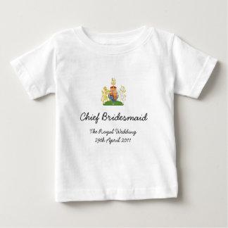 Demoiselle d'honneur en chef - pièce en t royale t-shirt pour bébé