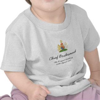 Demoiselle d'honneur en chef - pièce en t royale t-shirts
