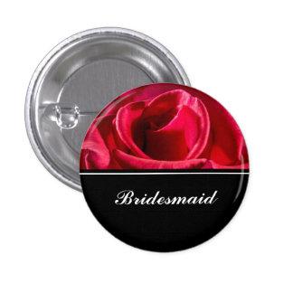 Demoiselle d'honneur épousant les roses rouges pin's