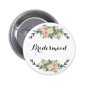 demoiselle d'honneur florale badge