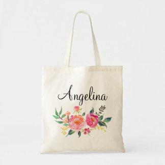 Demoiselle d'honneur florale moderne sacs