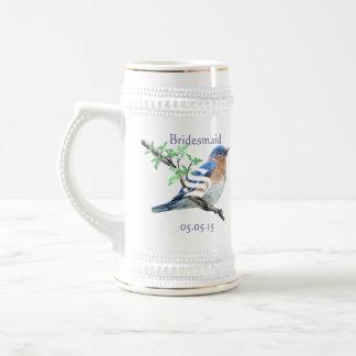 Demoiselle d'honneur Stein épousant les oiseaux bl Mug À Café