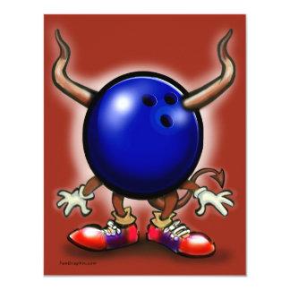 Démon de bowling faire-parts