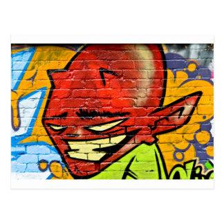 Démon de graffiti carte postale