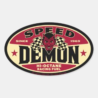 Démon de vitesse 003B Sticker Ovale
