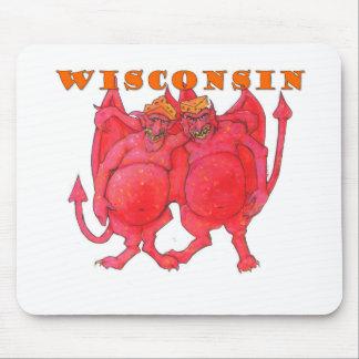 Démons du Wisconsin Cheesehead Tapis De Souris