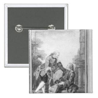 Denis Diderot et Melchior, baron de Grimm Badges