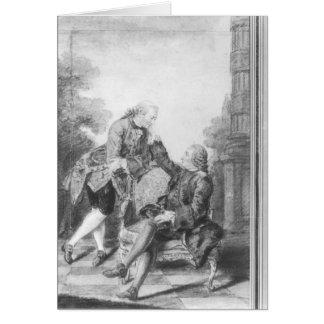 Denis Diderot et Melchior, baron de Grimm Carte De Vœux