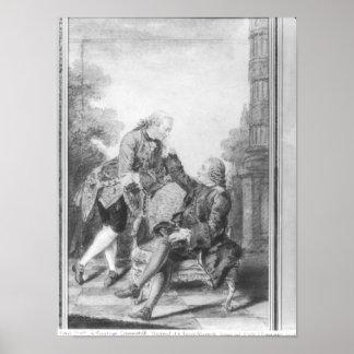Denis Diderot et Melchior, baron de Grimm Posters