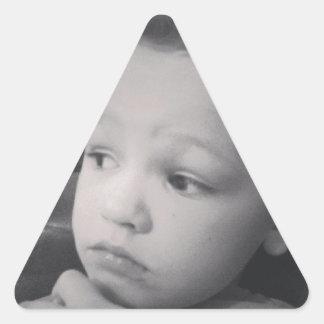 Dénommer de cheveux d'Edouard - d'Ella Sticker Triangulaire