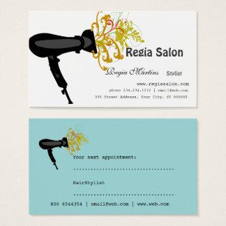 Dénommer des esthéticiens de sèche-cheveux de cartes de visite