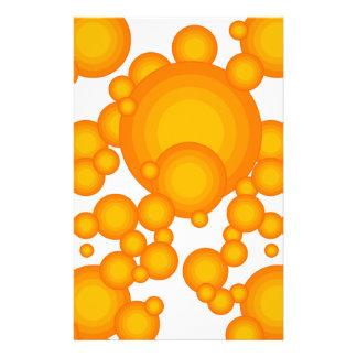 Dénommer orange d'année des années 70 papier à lettre customisable