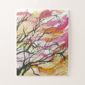 """Dentelez par les arbres 11"""" x 14"""" puzzle de"""
