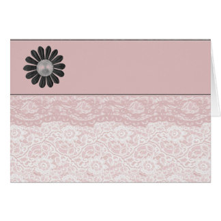 Dentelle assez rose cartes de vœux