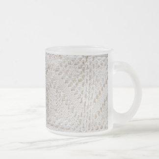 Dentelle blanche vintage tasse à café