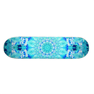 Dentelle d'Aqua, mandala sensible et abstrait Skateboard Customisable