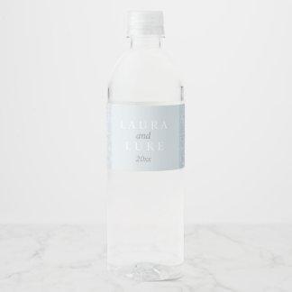 Dentelle grise élégante étiquette pour bouteilles d'eau