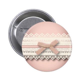 dentelle mignonne d'arc de rose de princesse de badge rond 5 cm