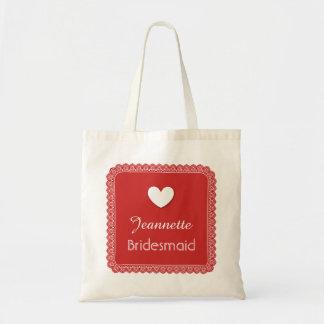 Dentelle rouge avec le sac V18 de mariage de