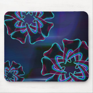 Dentiste bleu Mousepad de conception de fleur de Tapis De Souris