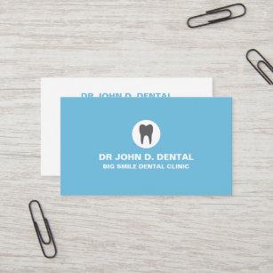 Dentiste Carte De Visite Bleu Dentaire Avec Le