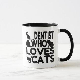 Dentiste qui aime des chats tasse