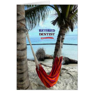 Dentiste retraité, hamac sous les palmiers carte de vœux