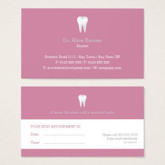 Dentiste rose dentaire de la carte   de