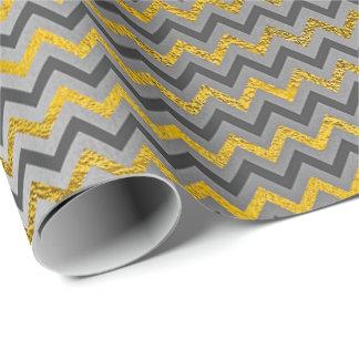 D'entreprise argenté métallique de lux gris papier cadeau