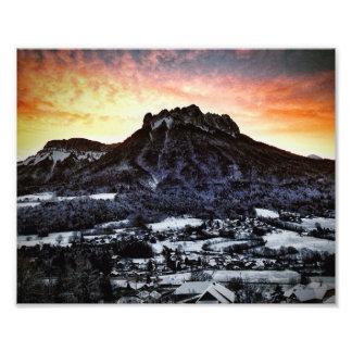Dents de Lanfon, Alpes français Impression Photo
