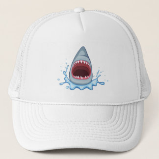 dents de requin de la bande dessinée casquettes